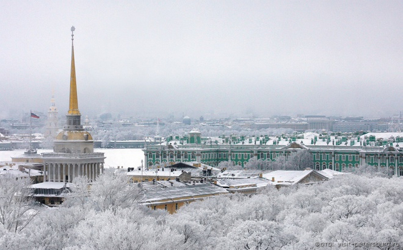 питер  погода в январе фото
